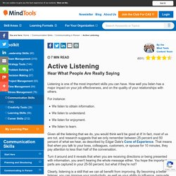 Active Listening - Communication Skills Training from MindTools.com