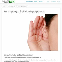 How to improve your English listening comprehension