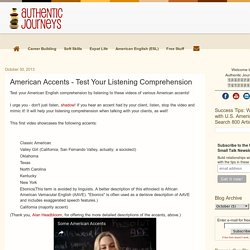 American Accents - Test Your Listening Comprehension