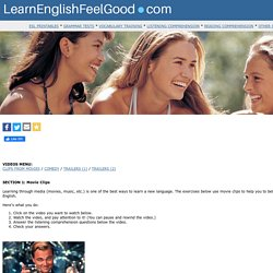 ESL Listening Comprehension Exercises: Movie clips to practice English