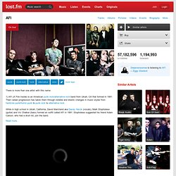 AFI – Discover music, videos, concerts, & pictures at Last.fm