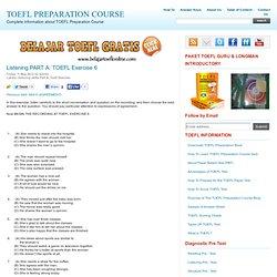 Listening PART A: TOEFL audio skill 6