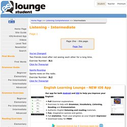 ESL Lounge: Listening - Intermediate
