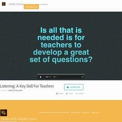 Listening: A Key Skill For Teachers