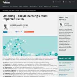 Listening – social learning's most important skill?