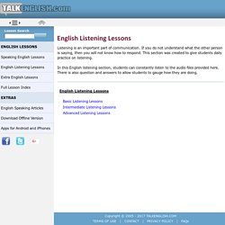 English Listening - Listening lessons ESL students with audio files and fun questions