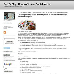 Beth's Blog: How Nonprofits Can Use Social Media: Listening