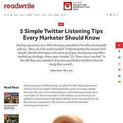 5 Simple Twitter Listening Tips Every Marketer Should Know