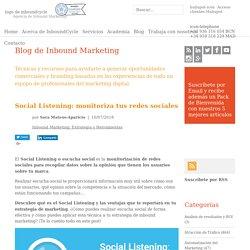 Social Listening: monitoriza tus redes sociales