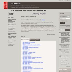 Listening Project - Accents and dialects