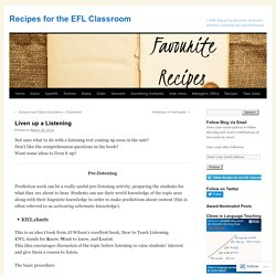 Recipes for the EFL Classroom