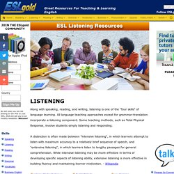 ESLGold.com - ESL English as a Second Language free materials for teaching and study. The best resources to help you learn English online