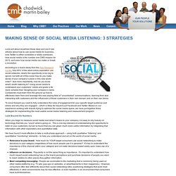 Making Sense of Social Media Listening: 3 Strategies