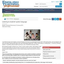 Listening to students' spoken language