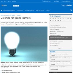 Listening for young learners