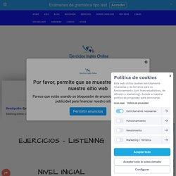 Listenings en inglés - Ejercicios inglés online