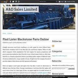 Find Lister Blackstone Parts Online