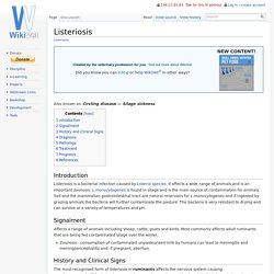 Listeriosis - WikiVet English