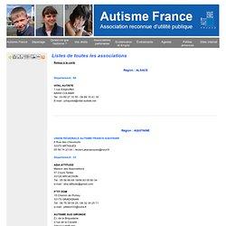 Listes de toutes les associations - Autisme France