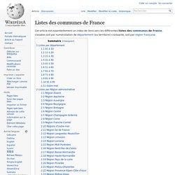 Listes des communes de France