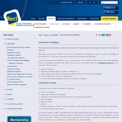 Listes d'entreprises de Belgique
