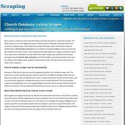 Church Listing Extractor, Church database Scraper, Church Website Scraper