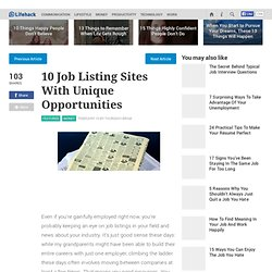 10 Job Listing Sites With Unique Opportunities