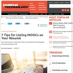 7 Tips for Listing MOOCs on Your Résumé