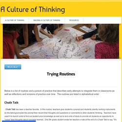 Listing of Routines - A Culture of Thinking