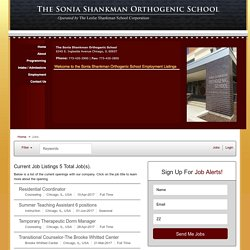 Job Listings - Sonia Shankman Orthogenic School Jobs