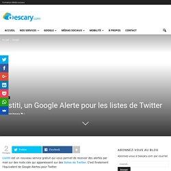Listiti, un Google Alerte pour les listes de Twitter