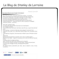 les listes Hénart sous l'angle listologique - Le blog de STANLEY