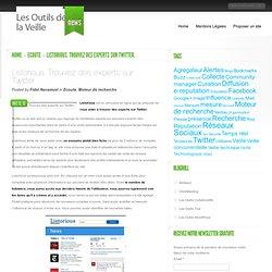 Listorious. Trouvez des experts sur Twitter - Les outils de la veille | Les outils de la veille