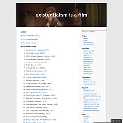 Lists « existentialism is a film