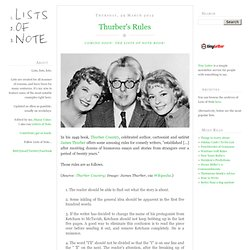 Writing tips - James Thurber