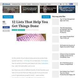 12 Lists That Help You Get Things Done