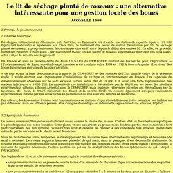 Lit de séchage planté de roseaux