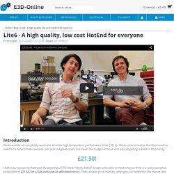 Lite6 - A high quality, low cost HotEnd for everyone