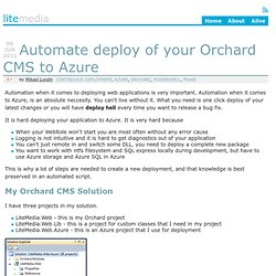 Automate deploy of your Orchard CMS to Azure - LiteMedia