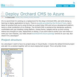 Deploy Orchard CMS to Azure - LiteMedia