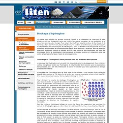 LITEN - Stockage d'hydrogène