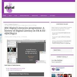 JISC Digital Literacies programme: A history of Digital Literacy in UK & EU #JISCDigLit — Digital Fingerprint