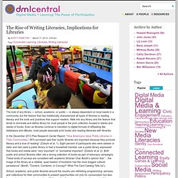 The Rise of Writing Literacies, Implications for Libraries