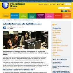 Digital literacies in the language classroom
