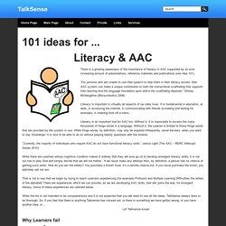 Literacy and AAC - TalkSense