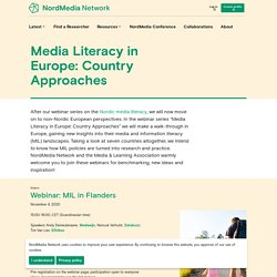 Media Literacy in Europe: Country Approaches (2020-2021)