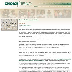 Choice Literacy - Articles & Videos - Full Article