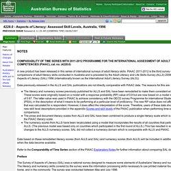 4228.0 - Aspects of Literacy: Assessed Skill Levels, Australia, 1996