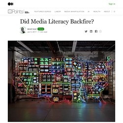 Did Media Literacy Backfire? – Data & Society: Points