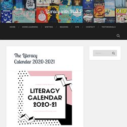 The Literacy Calendar 2020-2021 – Literacy with Miss P